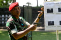 Exercises using firearms members of the army s special forces give a lesson how to use to journalists in sukoharjo indonesia Stock Image
