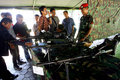 Exercises using firearms members of the army s special forces give a lesson how to use to journalists in sukoharjo indonesia Royalty Free Stock Image