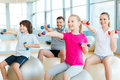 Exercising together is fun. Royalty Free Stock Photo