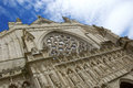Exeter cathedral carved stone on tbe face of county of devon uk Stock Images