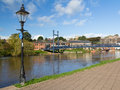 Exeter devon england uk quayside europe Royalty Free Stock Photo