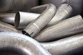 Exhaust pipes Stock Photo