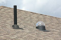 Exhaust vent and skylight Royalty Free Stock Photo
