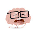 Exhausted brain clipart Royalty Free Stock Photo