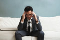 Exhausted, Illness, tired, stressed from overworked concepts. Bu Royalty Free Stock Photo