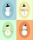Exhibición del muñeco de nieve Imágenes de archivo libres de regalías