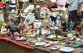 Exhibition fair of antiques in rimini on piazza cavour july Royalty Free Stock Photography