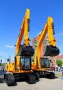 Exhibition gas oil technologies ufa russia may jcb excavators at the annual international on may in bashkortostan russia Royalty Free Stock Image