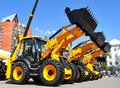Exhibition gas oil technologies ufa russia may line of jcb machinery at the annual international on may in bashkortostan Stock Images