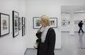 At the exhibition moscow house of photography ostozhenka street Royalty Free Stock Photos