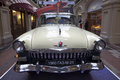 Exhibition of soviet retro cars in moscow russia state store on the red square november gaz volga Stock Photos