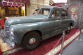 Exhibition of the soviet retro cars in moscow state store on red square november russia gaz m pobeda model edition Stock Image