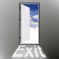 Exit door concept of a solution Stock Photography