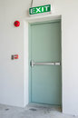 Exit door emergency of residential building Stock Photo