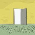 Exit door from old room