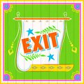 Exit poster illustration of india truck paint style Stock Photography