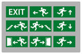 Exit sign Stock Photos