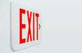 Exit Sign Royalty Free Stock Photo