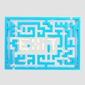 Exit sign icon as a labyrinth isolated Stock Photo
