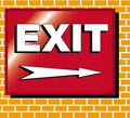 Exit sign illustration Royalty Free Stock Photo