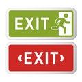 Exit sign illustration