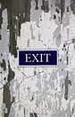 Exit sign on the old background Royalty Free Stock Images