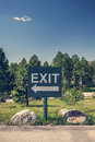 Exit sign a parking lot south dakota Stock Images