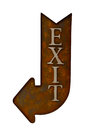 Exit sign on a white background Royalty Free Stock Photo
