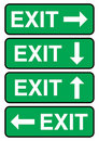 Exit signage Royalty Free Stock Photo