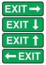 Exit signage Royalty Free Stock Photo