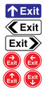Exit signs Stock Image