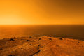 Exoplanet with vast ocean Royalty Free Stock Photo