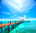 Exotic Caribbean island. Tropical beach resort Royalty Free Stock Photo