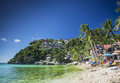 Exotic diniwid beach in tropical paradise boracay philippines Royalty Free Stock Photo
