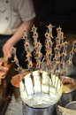Exotic food skewers in beijing wangfujing snack street dongcheng district china Stock Image