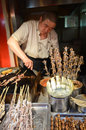 Exotic food skewers in beijing wangfujing snack street dongcheng district china Stock Photography