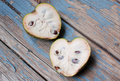 Exotic fruit cherimoya heart shaped Stock Photography
