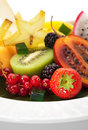 Exotic Fruit Dish Royalty Free Stock Photos