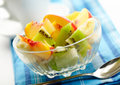 Exotic fruit salad Stock Photos