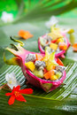 Exotic fruit salad Royalty Free Stock Photo
