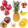 Exotic Fruits Collection Royalty Free Stock Photo