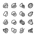 Exotic fruits icons – Bazza series Royalty Free Stock Photo