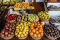 Exotic seasonal fruits, Madeira island Royalty Free Stock Photo