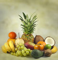 Exotic and tropical fruits Royalty Free Stock Images