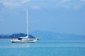 Exotic yacht ride at malaysia in sea Royalty Free Stock Image