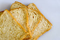 Expand of slice bread on the floor Royalty Free Stock Photo