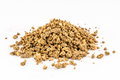 Expanded granulated cattle feed animal farm Royalty Free Stock Photo