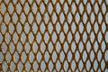 Expanded metal rust aluminum chrome Stock Photo