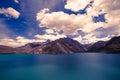 Expanse of lake iskander kul tajikistan in shades blue Stock Photo