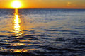 Expanse sea sunset sea waves light sunset Stock Photography